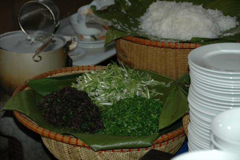 Chopped Vegetables for Soup - Hanoi, Vietnam