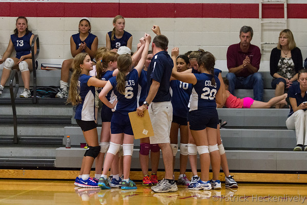 2013-09-04 Hillsdale Academy Girl's Junior High Volleyball vs. Tekonsha