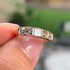 1.28ctw Asscher Cut Diamond 5-Stone Band, 18kt Rose Gold 1