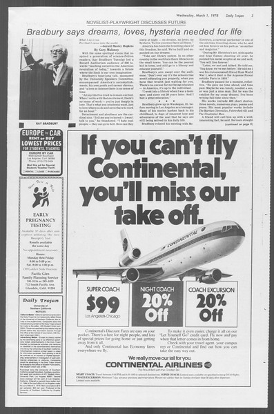 Daily Trojan, Vol. 73, No. 15, March 01, 1978