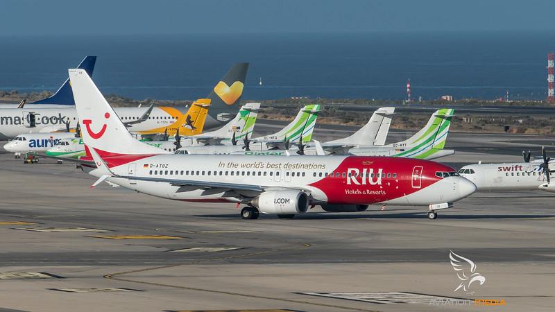 Tuifly / Boeing B737-8K5 / D-ATUZ / RIU Hotels & Resorts Livery