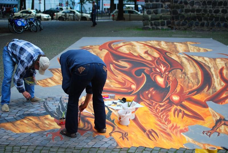 Street 3D art, Cologne