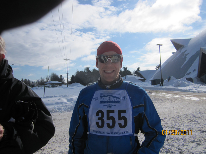Will Baker. Watch out for this guy. Only his second race and he broke 3 hrs. he even stopped to check out the scenery.