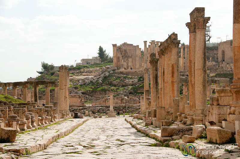 A Walk Down the Cardo in the Roman City of Jerash - Jordan