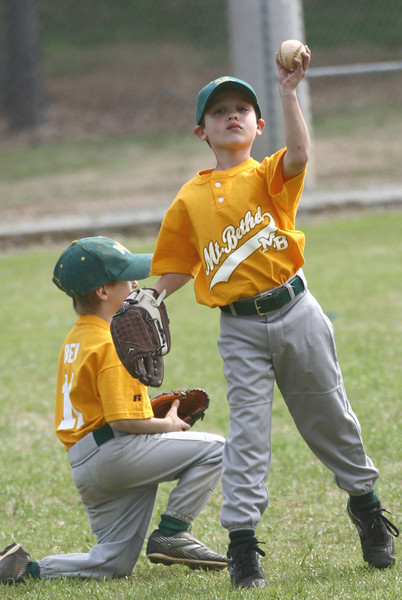 Younger boys' baseball on Keiter Field.  Gold vs. Navy.  More from this game.