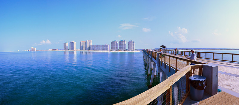 View From Navarre Beach Fishing Pier, Navarre Beach, FL.