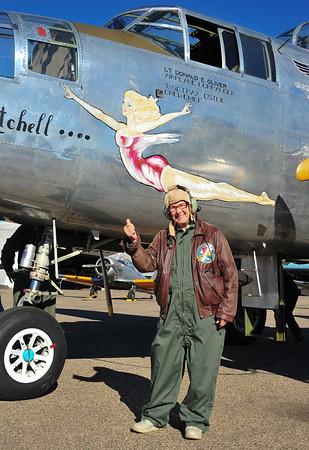 Joanne's B-25 flight 2011