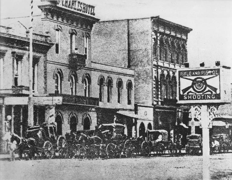 Saint Charles Hotel, Main Street, Los Angeles, ca.1876-1879