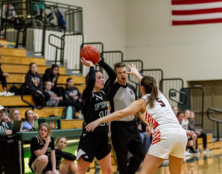 Holy Family Varsity Girls Basketball vs. Delano, 1/10/20: Reagan Cizek '22 (15)