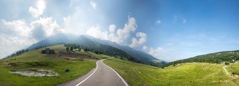Strada Provinciale 8 - Ferrara di Monte Baldo, Verona, Italy - July 19, 2014