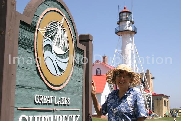 MICHIGAN:  WHITEFISH BAY SHIPWRECK MUSEUM & LIGHTHOUSE