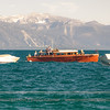 Wooden yacht, the Saga, at rest in Lake Tahoe, 2011 Tahoe Concours D' Elegance