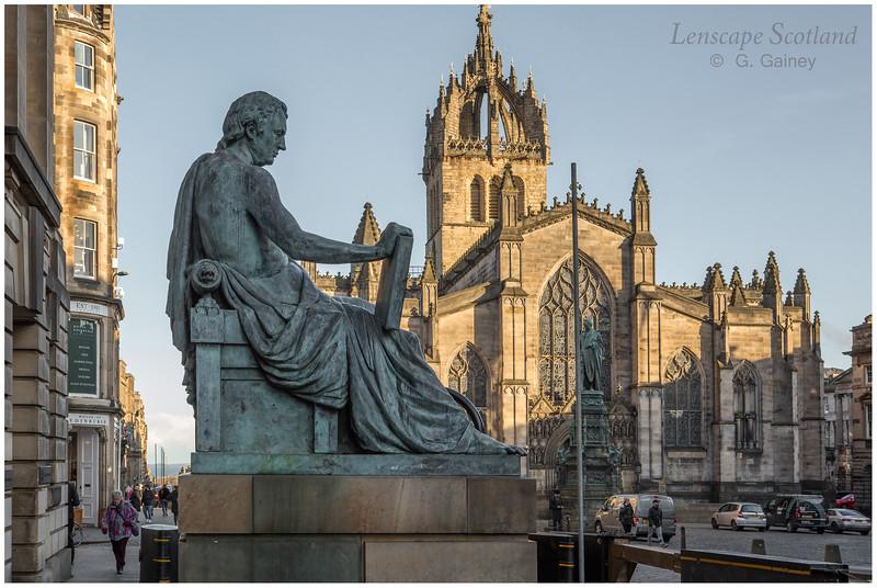 David Hume statue, High Street (1)