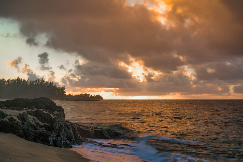 Lumahai Beach Sunset