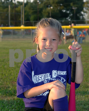 2010 Marshall County Fall T-Ball 3-4 Girls Purple Team, Kyle Perry Coach, September 23, 2010.