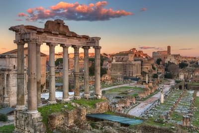 Roman Forum sunset