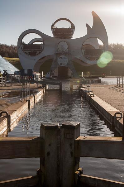 Falkirk Wheel canal boat lift