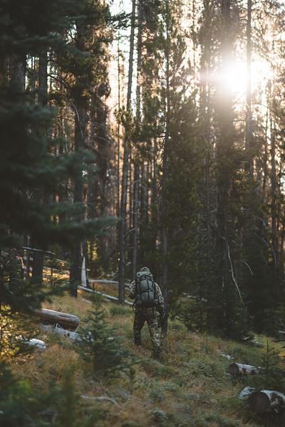 Austin Heinrich (No Social) hunts archery elk in Central Idaho. September 2018