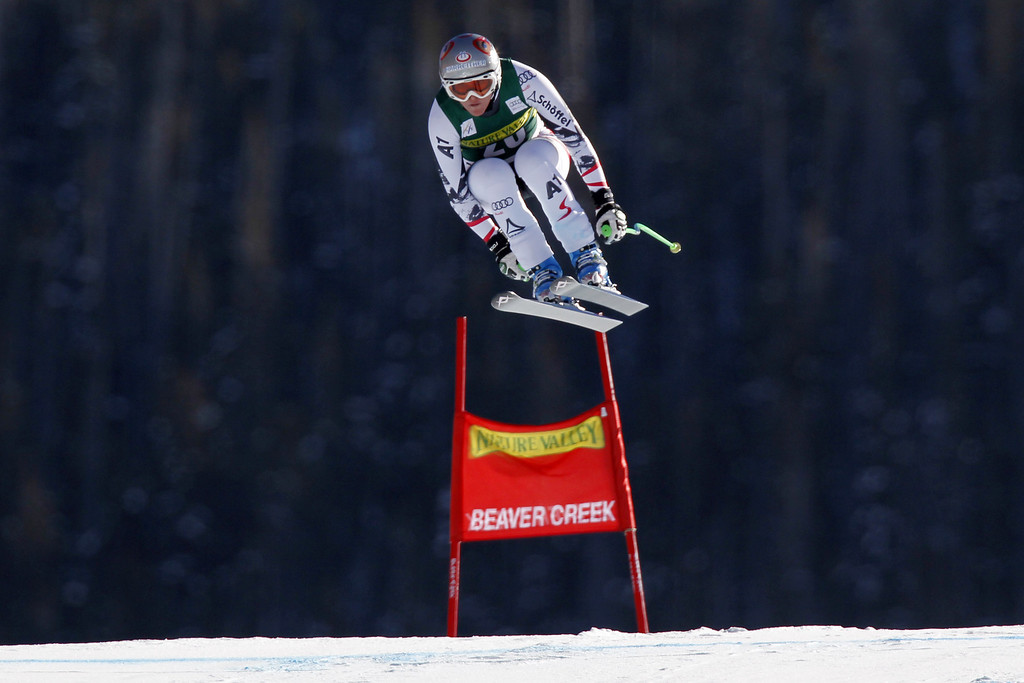 . Andrea Fischbacher of Austria competes during the Audi FIS Alpine Ski World Cup Women\'s Downhill on November 29, 2013 in Beaver Creek, Colorado. (Photo by Alexis Boichard/Agence Zoom/Getty Images)