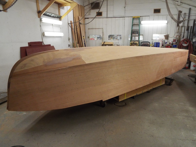 First starboard sanding completed.