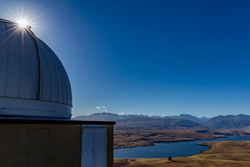 Blick vom Observatorium auf dem «Mount John» Richtung «Lake Tekapo»
