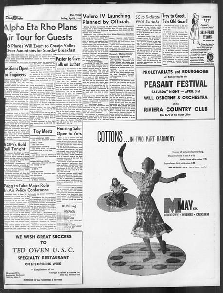 Daily Trojan, Vol. 39, No. 110, April 02, 1948
