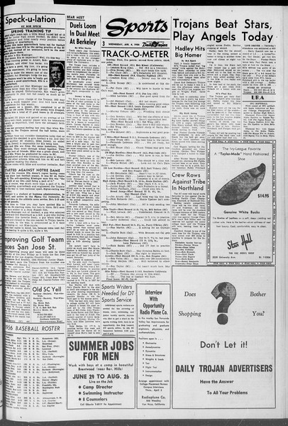Daily Trojan, Vol. 47, No. 105, April 04, 1956