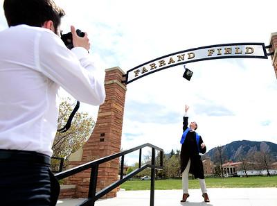 photos: CU Boulder Campus Sites on May 13, 2020
