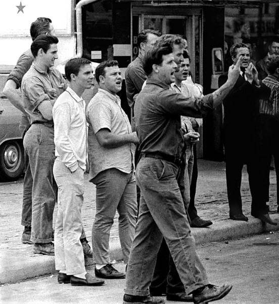 Hecklers  Selma to Montgomery, Alabama civil Rights March, March 24-26, 1965