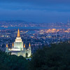 Mormon Temple and Wide View of San Francisco Bay Before Sunrise