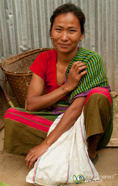 Indigenous Woman at Market in Bandarban, Bangladesh