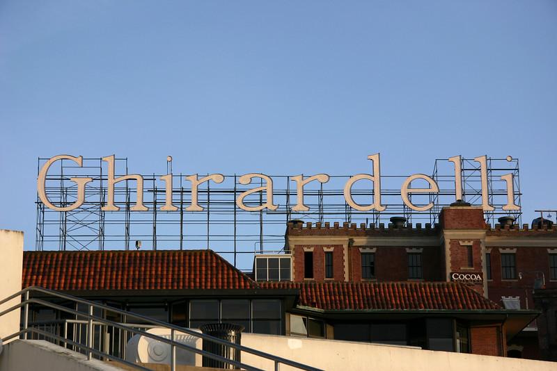 Ghirardelli chocolate factory.
