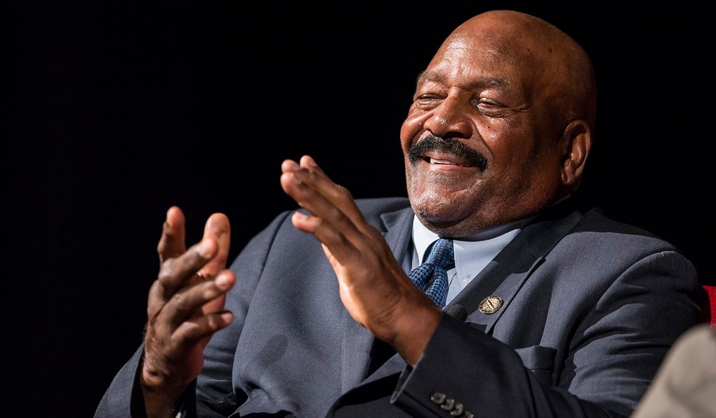 ". <p><b> Pro football hall of famer Jim Brown is back in the news, revealing that his 1964 NFL championship ring was � </b> <p> A. Stolen <p> B. Lost <p> C. Broken on the jaw of his lady friend during a 1985 brawl <p><b><a href=\'http://www.twincities.com/vikings/ci_26110562/jim-brown-considering-legal-action-get-nfl-championship\' target=""_blank\"">LINK</a></b> <p>    (Ricardo B. Brazziell-Pool/Getty Images)"