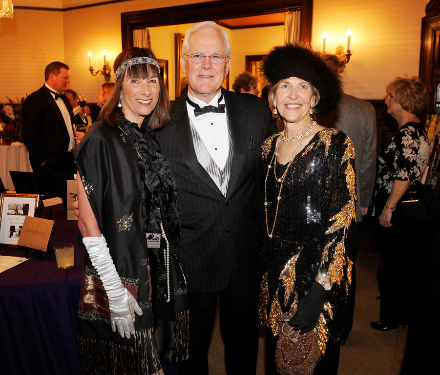 . Patricia Prevost, left was photographed with Bob and Jackie Conley, at right. The Rocky Mountain PBS Masterpiece Costume Ball attracted more than 200 fans of the Downton Abbey television drama Saturday night, January 4, 2014 at the Grant Humphreys Mansion. The show\'s new season starts Sunday night. The event also included a silent auction, historical displays, and a costume contest. Photo By Karl Gehring/The Denver Post