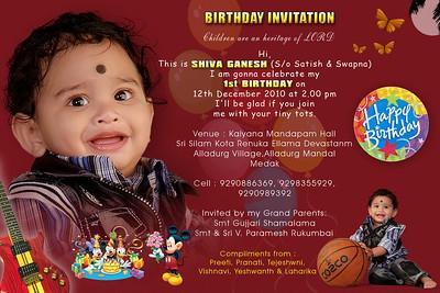 satish b'day invitation