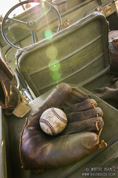 Vintage Glove and Ball   Photography by Wayne Heim