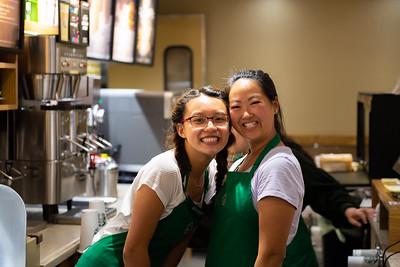 Starbucks photo shoot