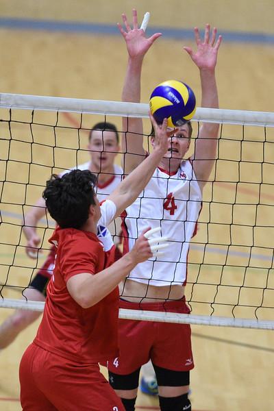 International Volleyball England 3 v 0 Scotland (20, 22, 17), Sport Central, Northumbria University, 27 May 2017.   © Lynne Marshall   http://www.volleyballphotos.co.uk/2017/Misc/20170527-England-v-Scotland-Men/