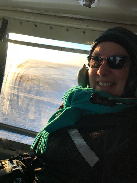 Helicopter ride looking for polar bears on the ice