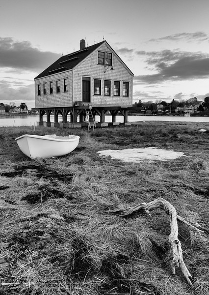 Cape Porpoise Fish Shack_8871 BW