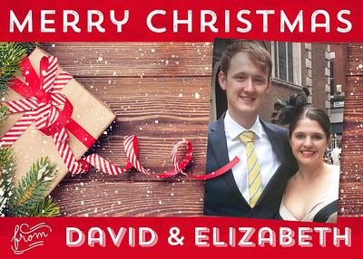 David & Elizabeth Christmas Card 2015
