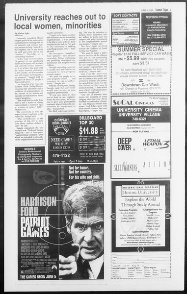 Summer Trojan, Vol. 118, No. 4, June 03, 1992