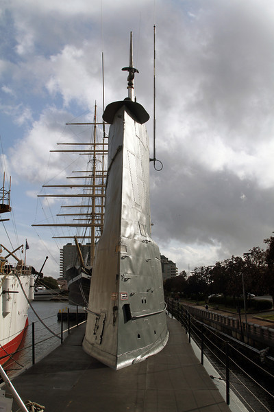 """Sail"" of the submarine Becuna"