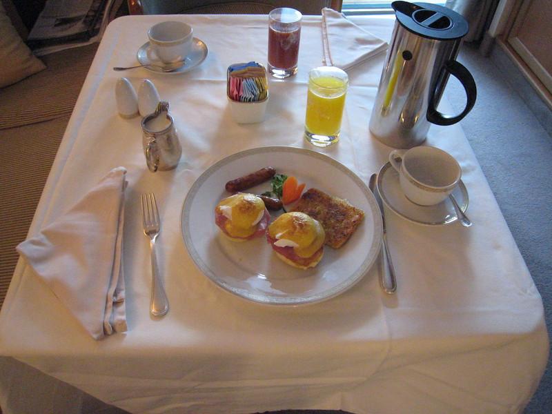 The last morning - Eggs Benedict!