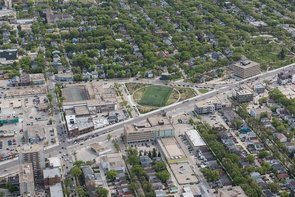 DAVID LIPNOWSKI / WINNIPEG FREE PRESS  Gordon Bell Green Space  Aerial photography over Winnipeg May 18, 2016 shot from STARS helicopter.