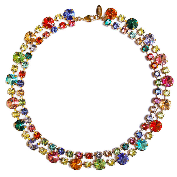 Pomona Necklace / Rainbow Combo Gold