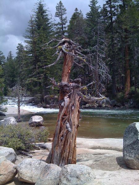 Above Nevada Fall. Mist Trail, Yosemite NP