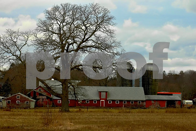 Family farm in winter...