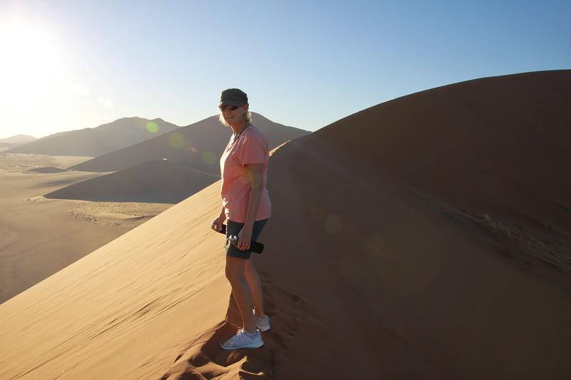 Bobbi climbing 1000' up Dune#45