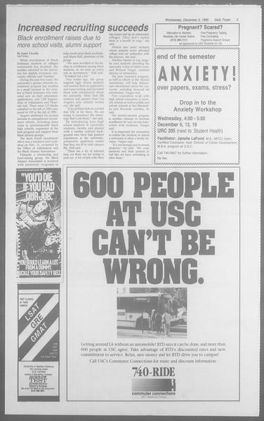 Daily Trojan, Vol. 113, No. 63, December 05, 1990
